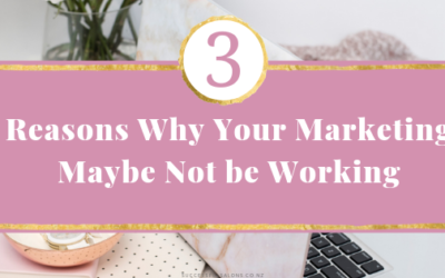 REASONS WHY YOUR MARKETING MAYBE NOT WORKING